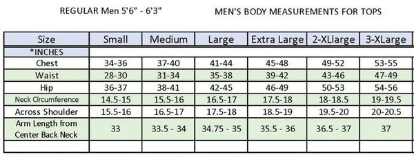 Drake Fishing shirts size chart. Shop Bennetts Clothing for the best in mens outdoor-wear.