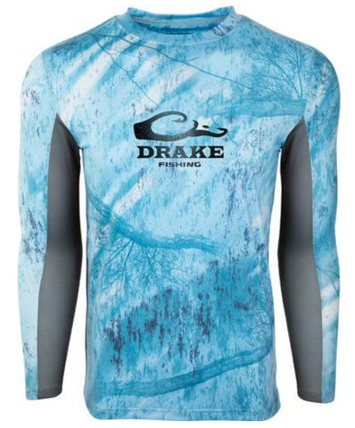 Drake Fishing Shield 4 Long Sleeve Shirt was made for all day performance on the water. Shop Bennetts Clothing for the best in mens outdoor-wear.
