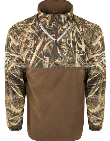 Drake 1/4 Zip Eqwader Pullover is perfect for the during or after the hunt. Shop Bennett's Clothing for the outdoor gear you want from the brands you love.