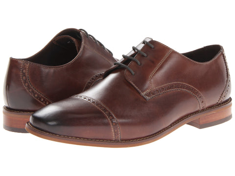 Florsheim Castellano Cap Toe Oxford Shoe-Brown - Bennett's Clothing - 1