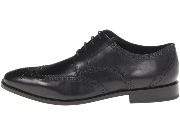 Florsheim Castellano Wingtip Oxford Dress Shoe-Black - Bennett's Clothing - 2