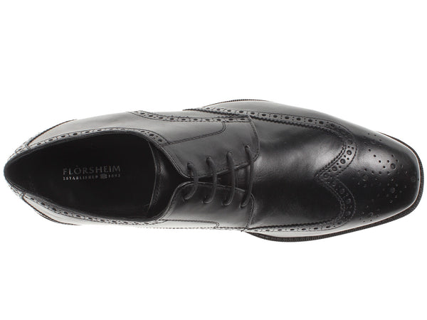 Florsheim Castellano Wingtip Oxford Dress Shoe-Black - Bennett's Clothing - 6