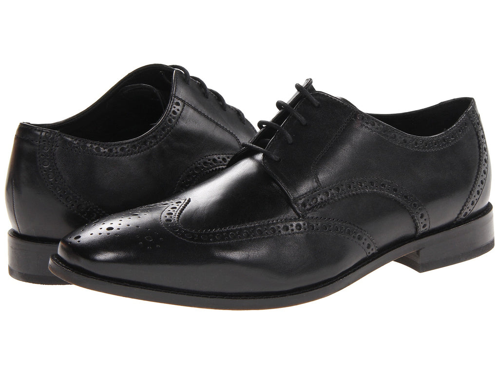 Florsheim Castellano Wingtip Oxford Dress Shoe-Black - Bennett's Clothing - 1