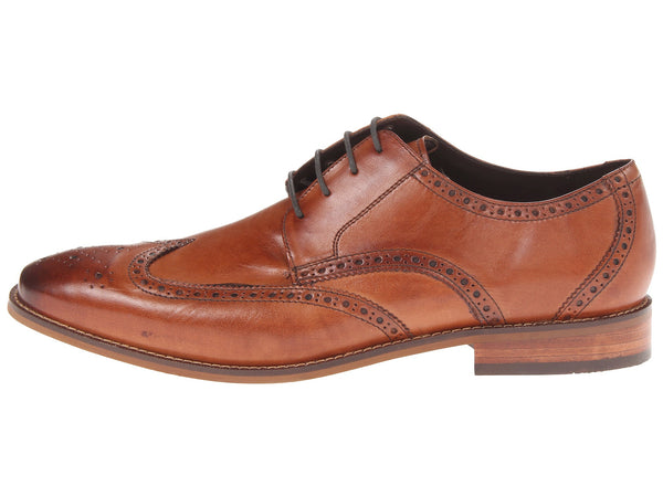 Florsheim Castellano Wingtip Oxford Dress Shoe-Saddle Tan - Bennett's Clothing - 2