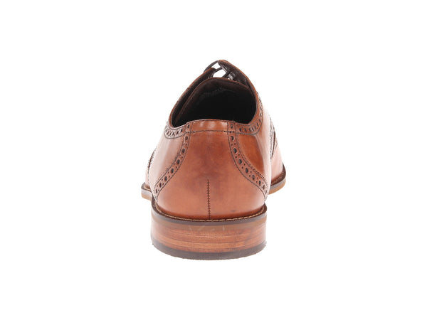 Florsheim Castellano Wingtip Oxford Dress Shoe-Saddle Tan - Bennett's Clothing - 3