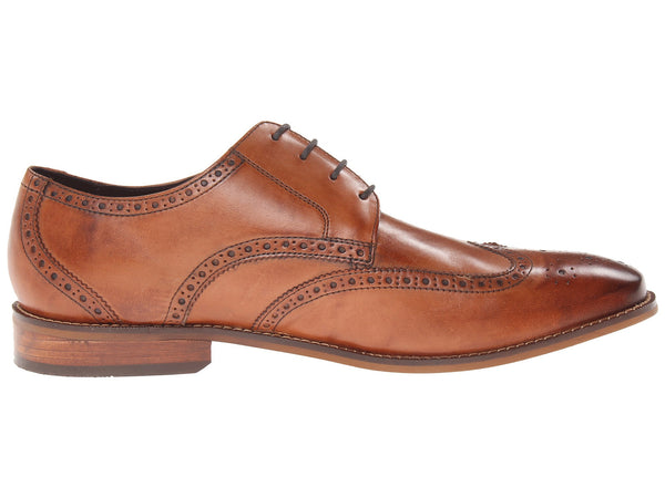 Florsheim Castellano Wingtip Oxford Dress Shoe-Saddle Tan - Bennett's Clothing - 4