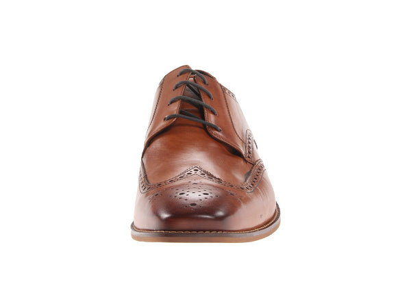 Florsheim Castellano Wingtip Oxford Dress Shoe-Saddle Tan - Bennett's Clothing - 5