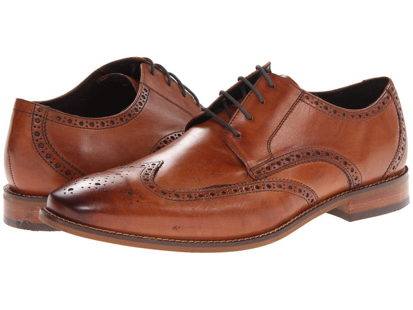 Florsheim Castellano Wingtip Oxford Dress Shoe-Saddle Tan - Bennett's Clothing - 1