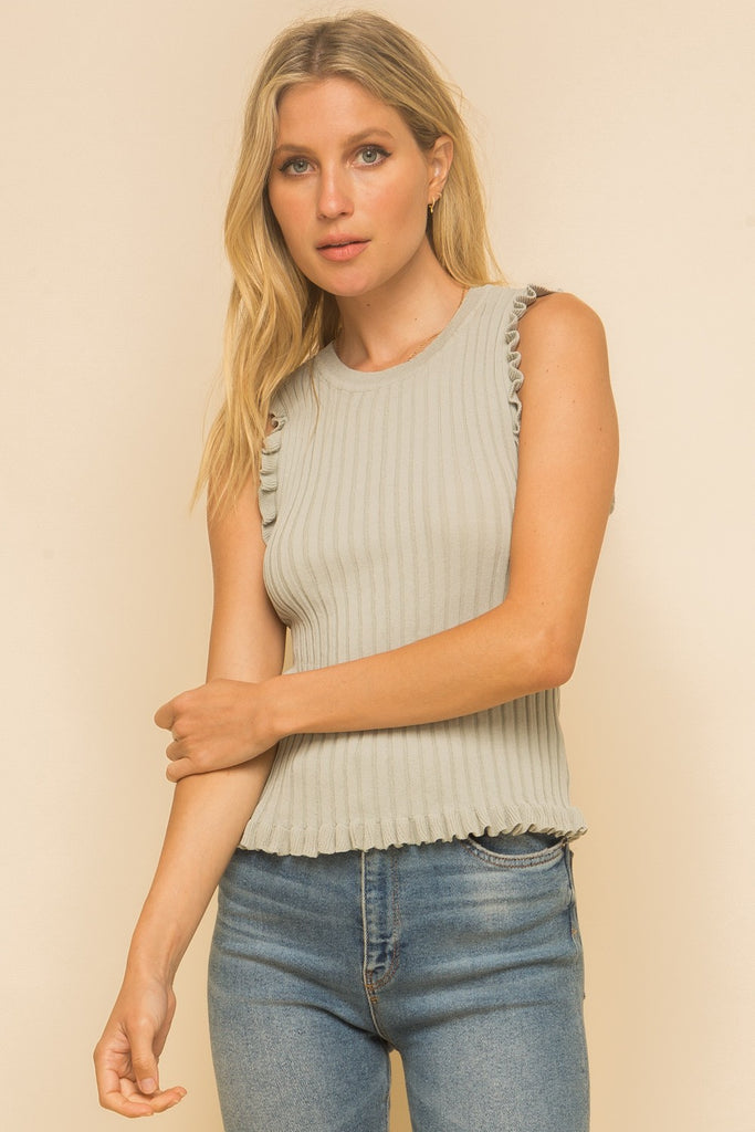 Hem and Thread sleeveless Frill Top will take your basics to the next level. Shop Bennett's for the latest fashion and best customer service, shipped same day to your front door.