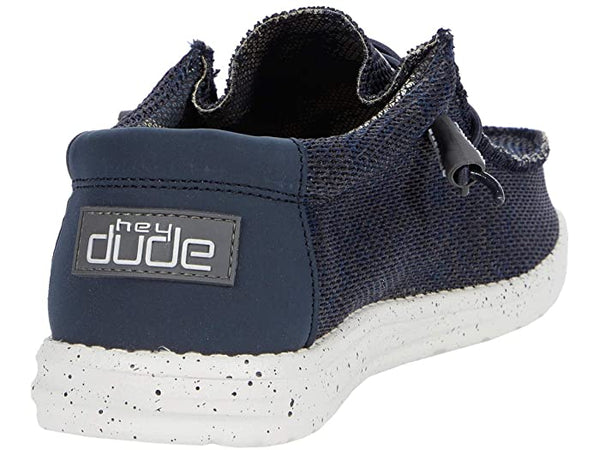Hey Dude Wally Sox Slip-on Shoe-Navy-Grey