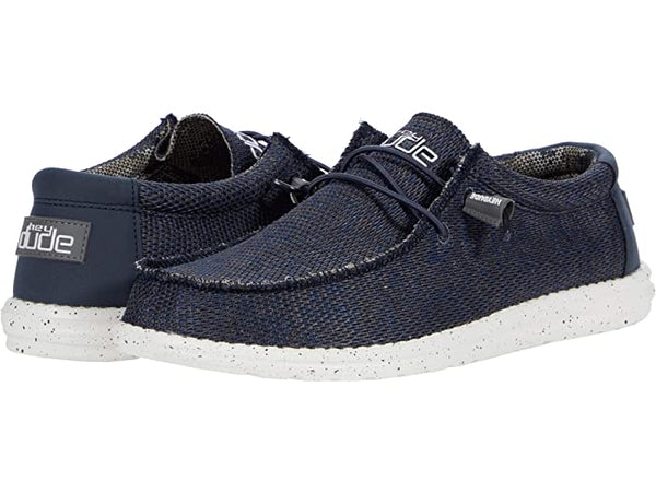 Hey Dude Wally Sox slip-on shoes takes comfort to a whole new level.  Shop Bennett's Clothing for the brands you want and the customer service you deserve.