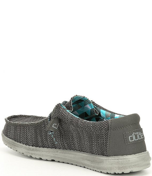Hey Dude Wally Sox Slip-on Shoe-Charcoal