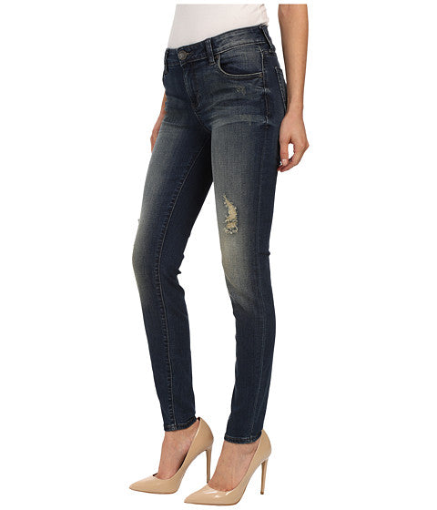 KUT from the Kloth Mia Toothpick Skinny Jean-Laugh Wash-Dark Stone Base