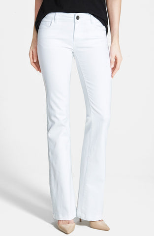 Kut from the Kloth Chrissy Flare Leg Jeans-White - Bennett's Clothing - 1