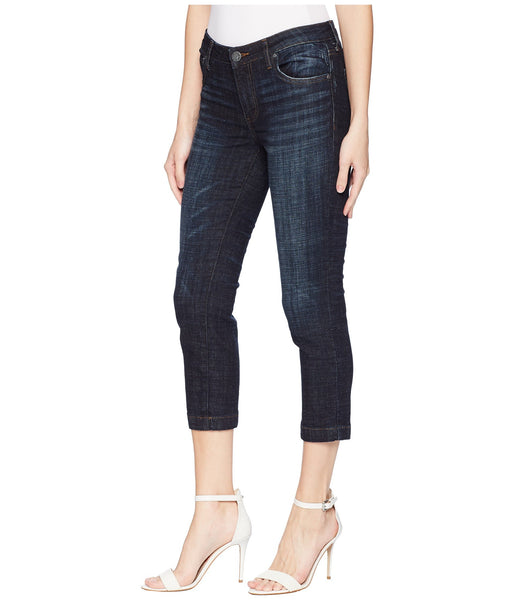 Kut Lauren Crop Straight Leg Jean-Cultivated Wash