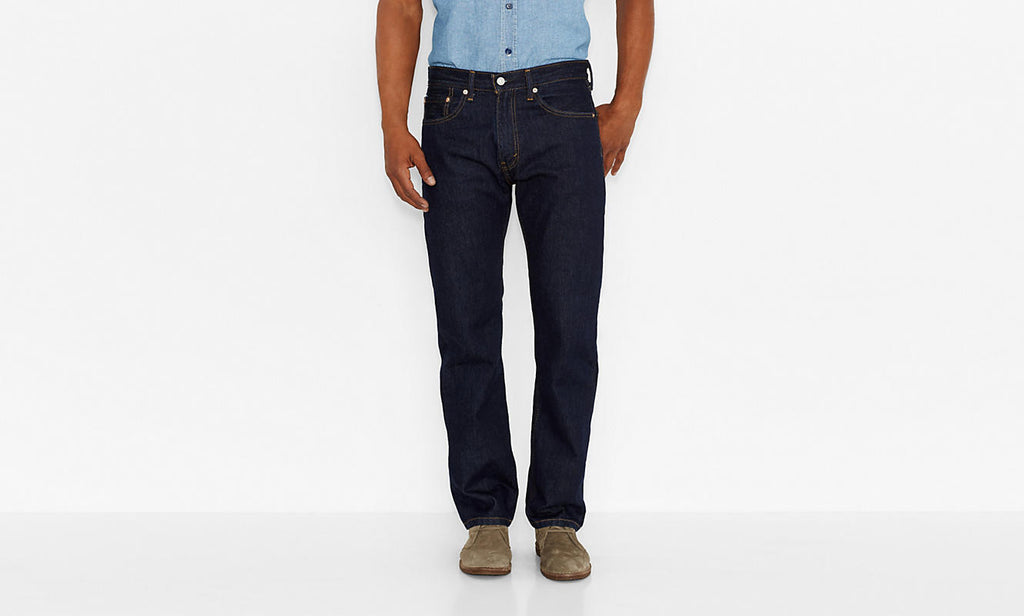Levi's Men's 505 Straight Leg Jeans-Rinse - Bennett's Clothing - 1