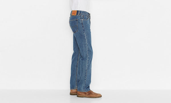 Levi's Men's 505 Straight Leg Jeans -Medium Stonewash - Bennett's Clothing - 2