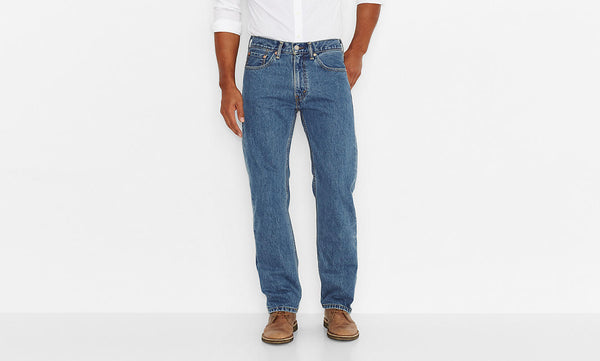 Levi's Men's 505 Straight Leg Jeans -Medium Stonewash - Bennett's Clothing - 1