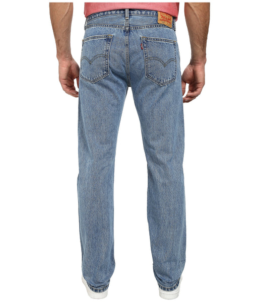 Levi's Men's 505 Straight Leg Jeans -Light Stonewash - Bennett's Clothing - 3