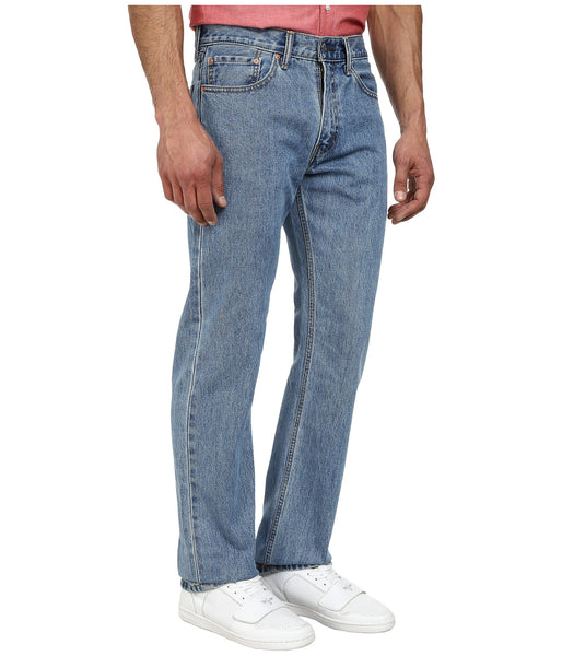 Levi's Men's 505 Straight Leg Jeans -Light Stonewash - Bennett's Clothing - 4