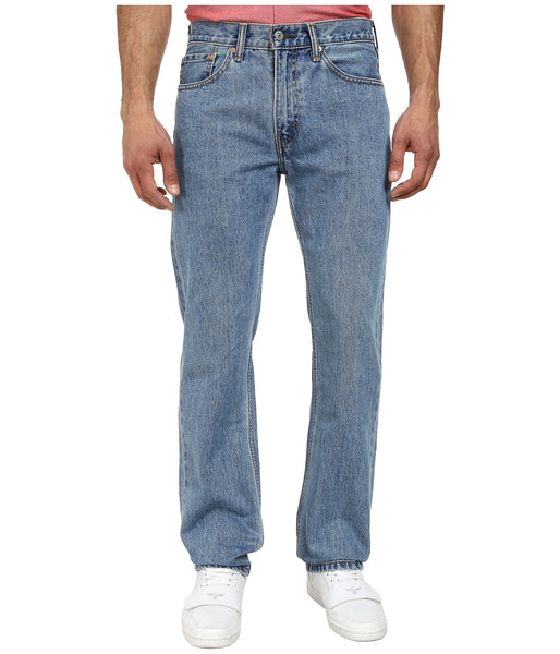 Levi's Men's 505 Straight Leg Jeans -Light Stonewash - Bennett's Clothing - 1