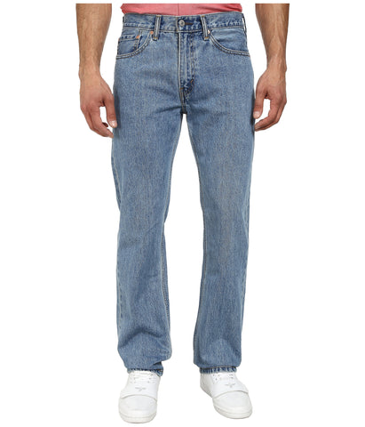 Levi's 505 Straight Leg Jeans in Light Stonewash. Shop Bennett's Clothing for a large selection of Levi's Jeans with same day shipping for over 42 years