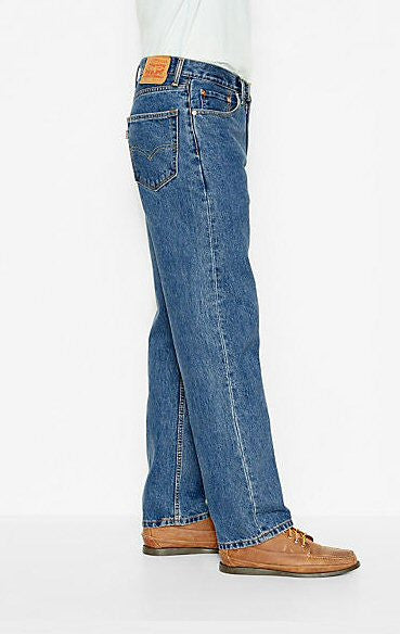 Levi's Men's 550 Relaxed Fit Jean-Medium Stonewash - Bennett's Clothing - 2