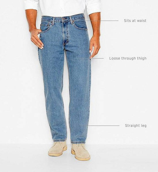 Levi's Men's 550 Relaxed Fit Jean-Medium Stonewash - Bennett's Clothing - 4