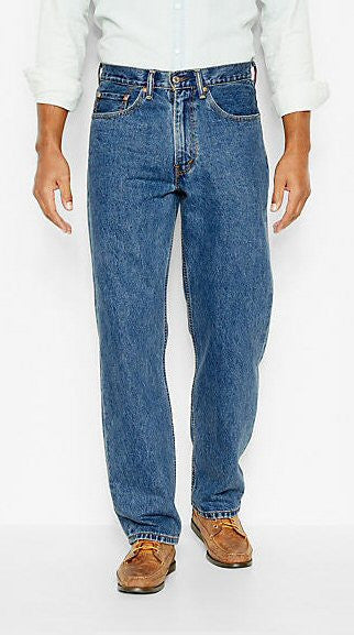 Levi's Men's 550 Relaxed Fit Jean-Medium Stonewash - Bennett's Clothing - 1