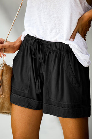 Lily Casual Drawstring Shorts are trendy and comfortable. Perfect for summer and that casual look. Shop Bennetts Clothing for the latest in women's fashions shipped same day..