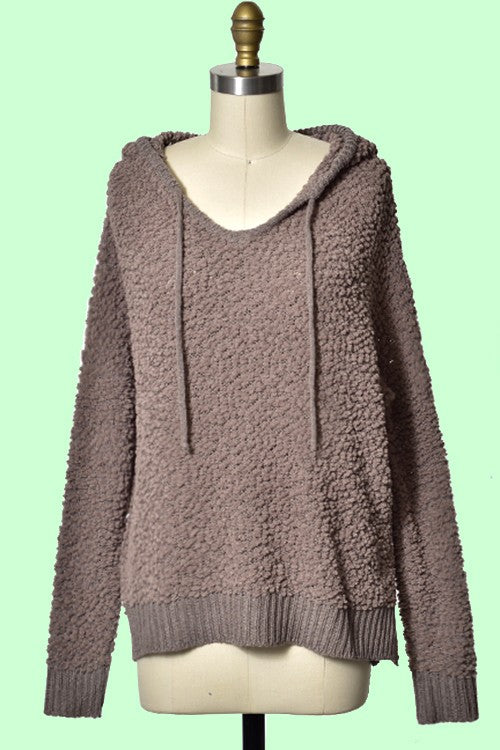 Miracle Popcorn Hoodie Sweater-Brown
