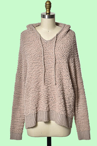 Miracle Popcorn Hoodie Sweater-Taupe