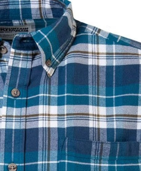 Mountain Khakis Downtown Flannel Shirt-Blue Steel