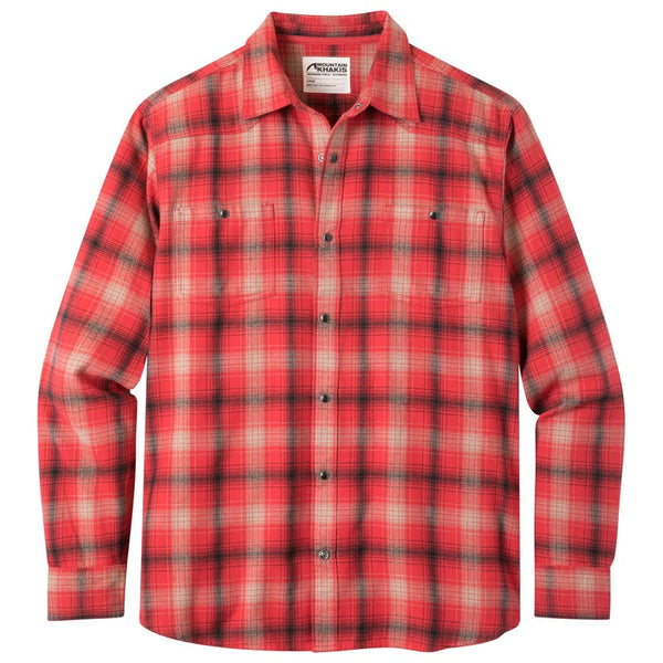 Mountain Khakis Saloon Plaid Flannel Shirt-Engine Red
