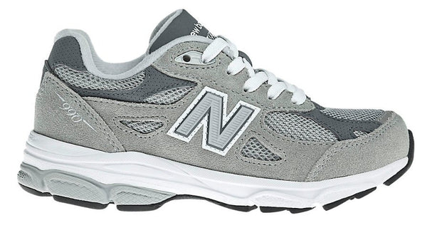 New Balance Kids 990v3 Running Shoe-Grey