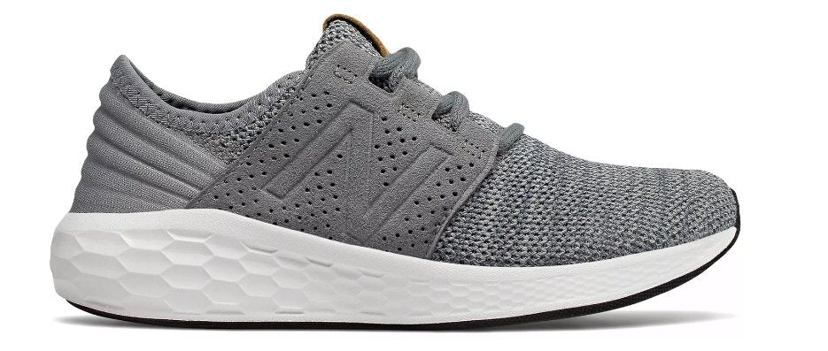 New Balance Kids Cruz V2 Fresh Foam Shoe-Gunmetal-White