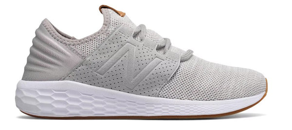 New Balance Womens WCRUZV2 Fresh Foam Shoe-Rain Cloud-White Munsell