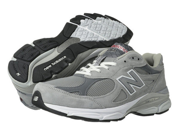 New Balance M990v3 Running Shoe-Grey - Bennett's Clothing - 1