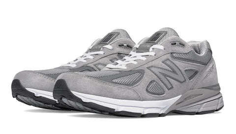 New Balance Mens 990V4 Running Shoe-Grey/Castlerock  NEW - Bennett's Clothing - 1