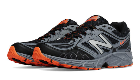 New Balance Men's 510v3 Trail Running Shoe-Black with Grey & Lava - Bennett's Clothing - 1