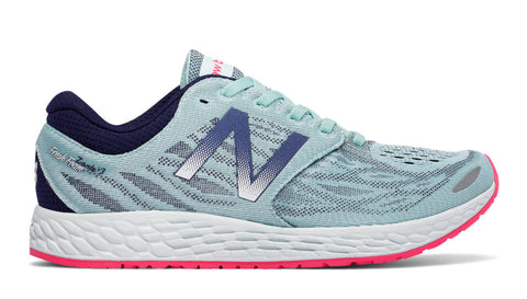 New Balance Women's Fresh Foam Zante V3-Ozone Blue-Bright Cherry