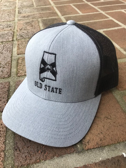Old State Pride AL State Logo Trucker Hats are back in stock and a couple new colors. Shop Bennett's Clothing for the brands you want shipped same day.
