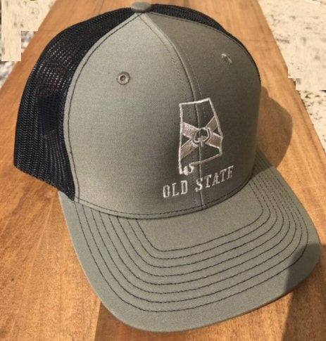 Old State Pride AL State Logo Trucker Hat is back in stock! Shop Bennett' Clothing for the brands you want shipped same day.