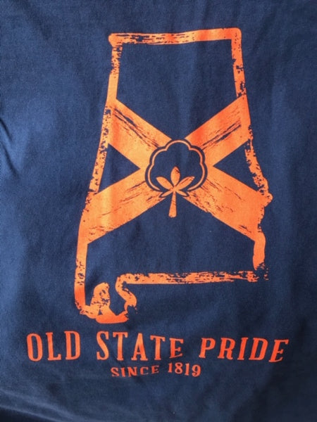 Old State Pride AL State Logo tee is back in stock! Shop Bennett' Clothing for the brands you want shipped same day.