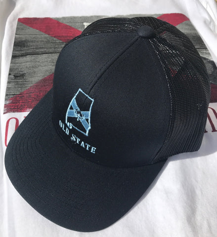 Old State Pride Alabama State Trucker Hat-Blue-Navy
