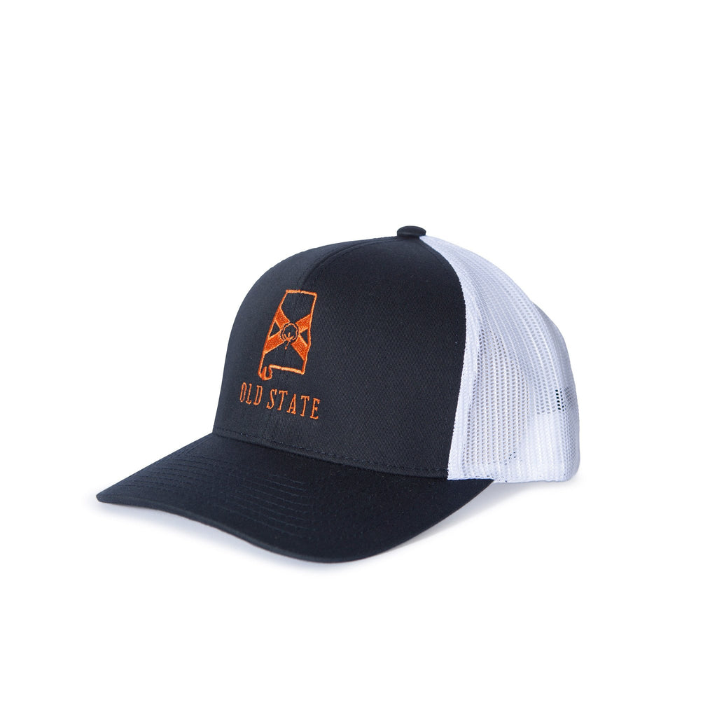 Old State Pride Alabama State Trucker Hat-Navy/Orange