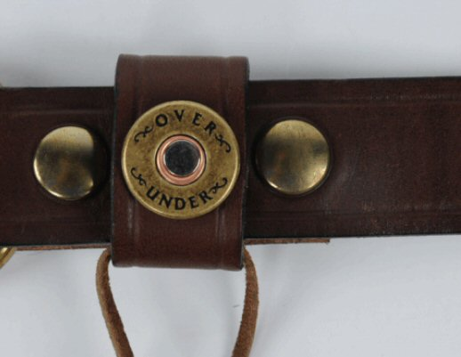 Over Under Multi Shotgun Shell Belt-Dark Brown