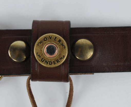 Over Under Single Shotgun Shell Belt-Dark Brown