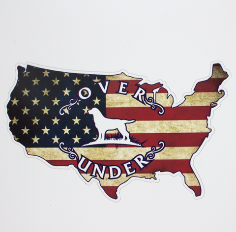Over Under USA Map sticker is unique and as southern as the gentleman that displays it. Perfect for your Bison cup, cooler, or truck window. Shop Bennett's Clothing for the brands you want with the customer service you deserve.
