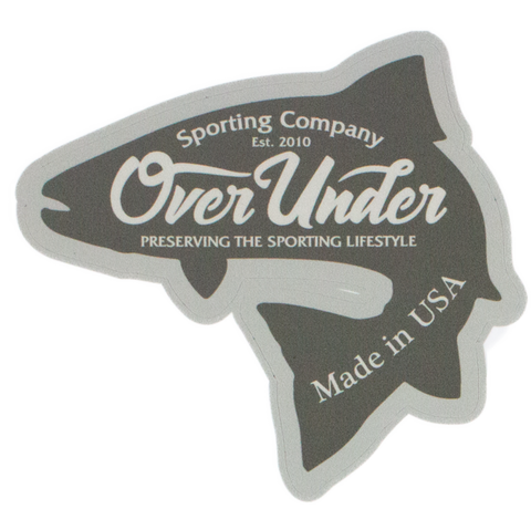 Over Under Brook Trout sticker is unique and as southern as the gentleman that displays it. Perfect for your Bison cup, cooler, or truck window. Shop Bennett's Clothing for the brands you want with the customer service you deserve.